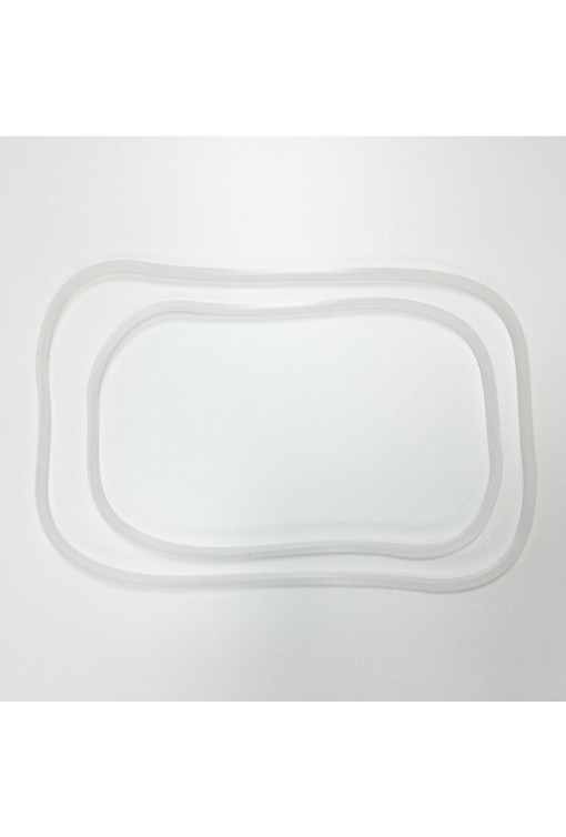 Set of 2 Rectangular silicone gaskets